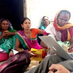 The women in Baria who had taken loans to build toilets